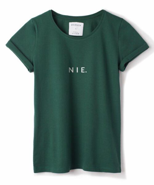 animush t-shirt zielony z nadrukiem nie
