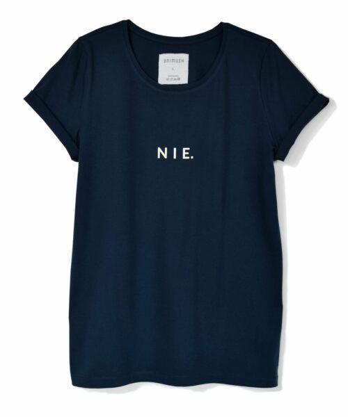 animush t-shirt granatowy z nadrukiem nie