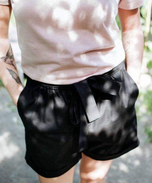 animush czarne szorty bow