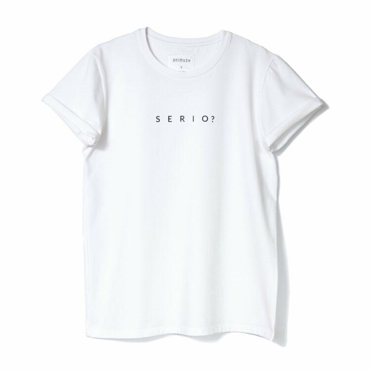 animush t-shirt oversize bialy serio