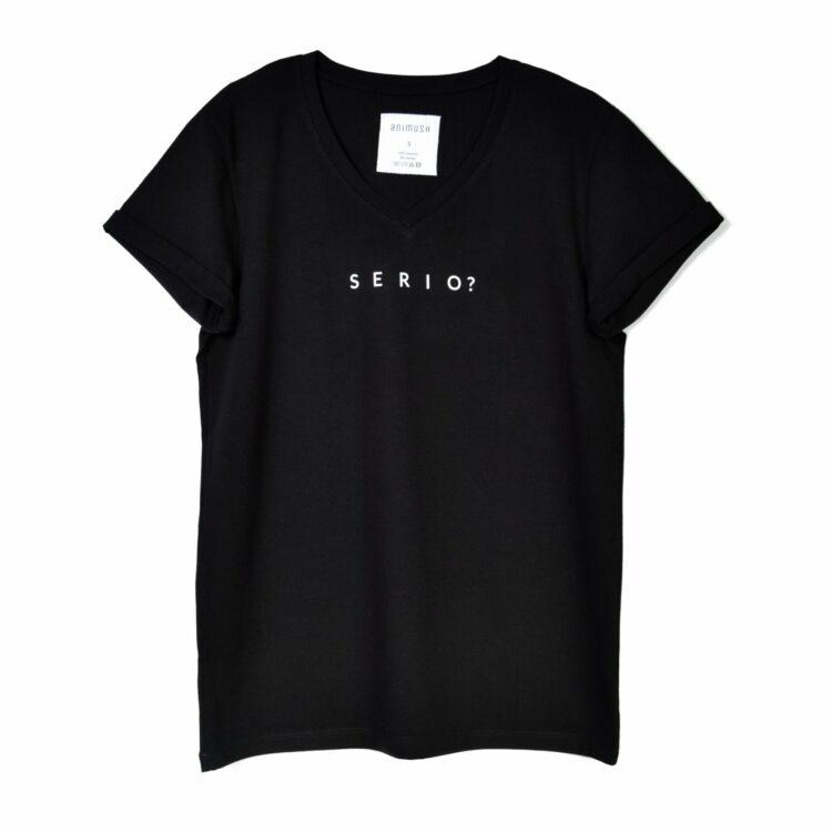 animush t-shirt oversize czarny serio