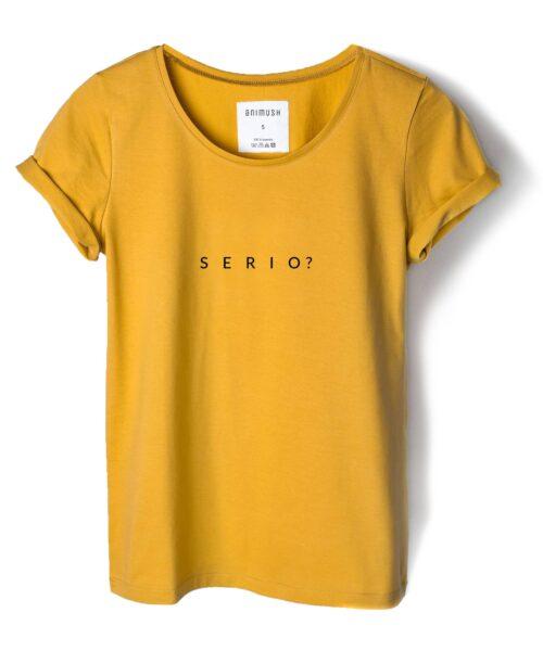 animush t-shirt musztardowy serio