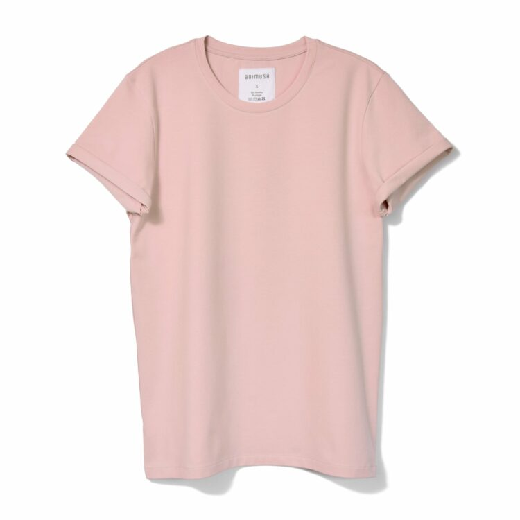 animush t-shirt oversize pudrowy róż