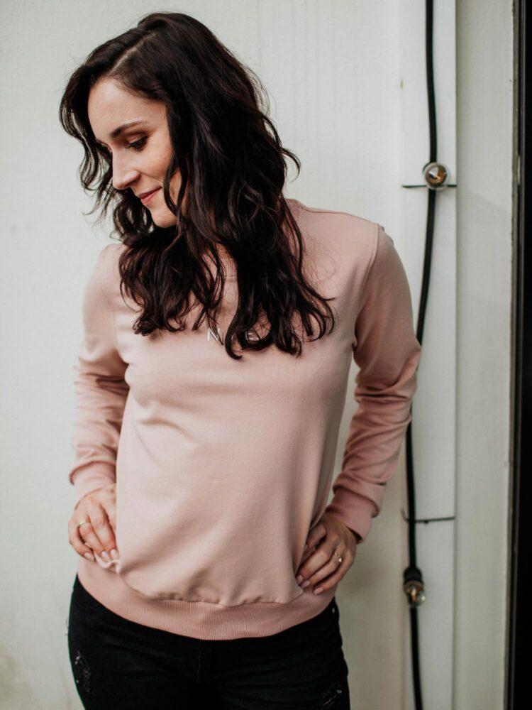 animush bluza różowa z nadrukiem nie