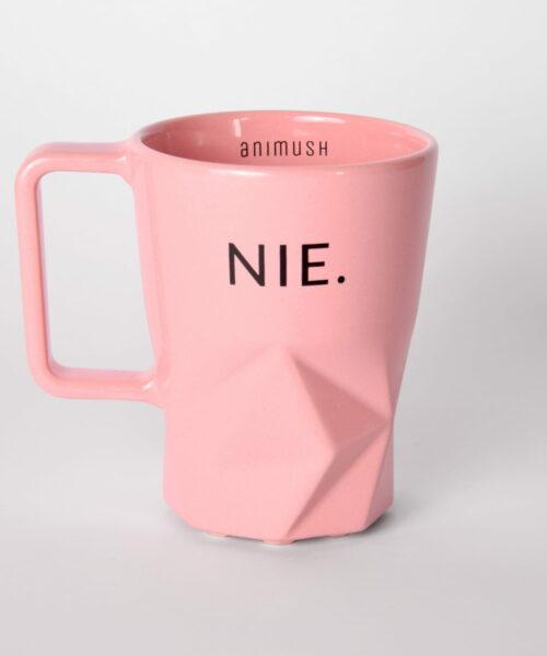 animush kubek różowy z nadrukiem nie