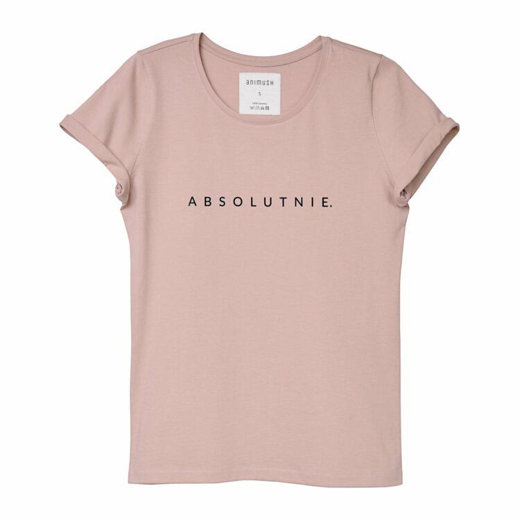 animush t-shirt pudrowy roz absolutnie