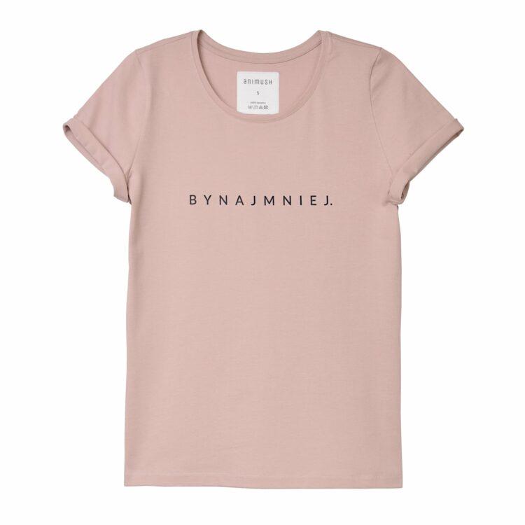 animush t-shirt pudrowy roz bynajmniej