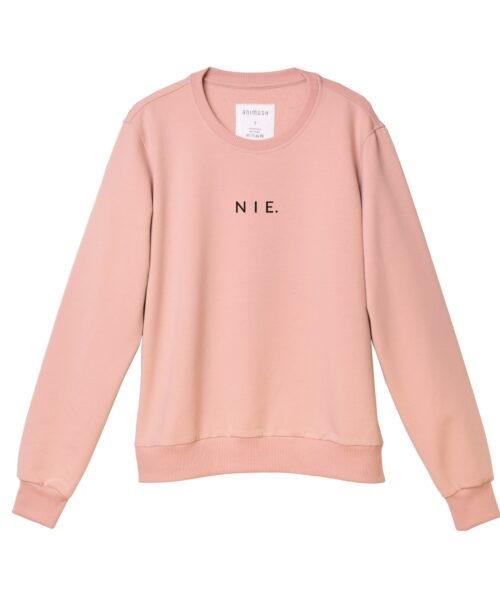 animush bluza różowa z czarnym nadrukiem nie