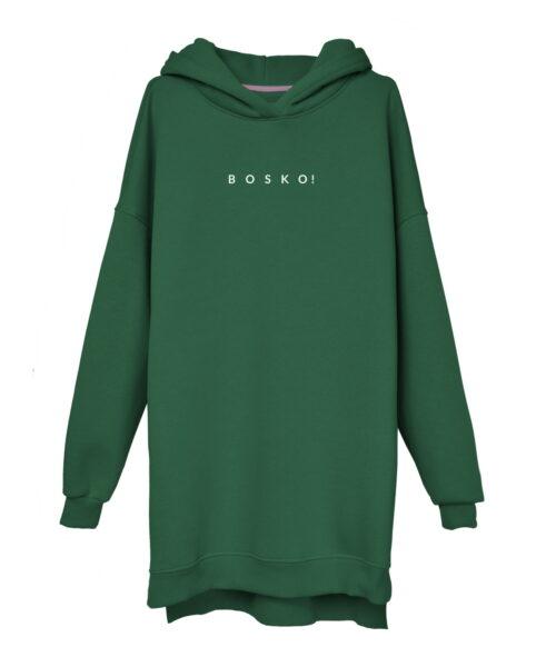 animush bluza long zielona butelkowa bosko