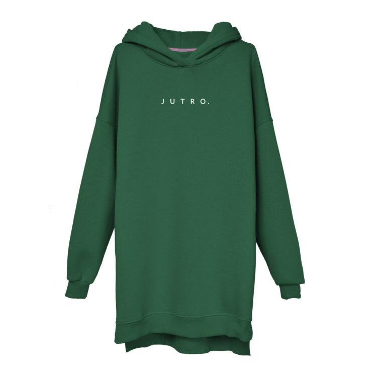 animush bluza long zielona butelkowa jutro