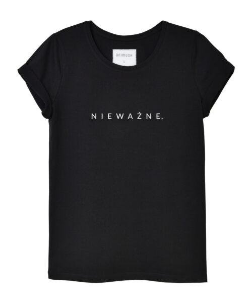 animush t-shirt czarny z nadrukiem nieważne