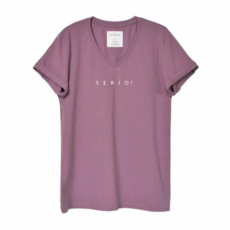 animush t-shirt oversize wrzosowy serio
