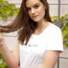 animush t-shirt biały z nadrukiem nieważne