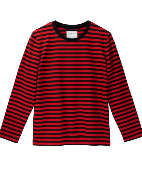 animush longsleeve oversize w czerwono-czarne paski