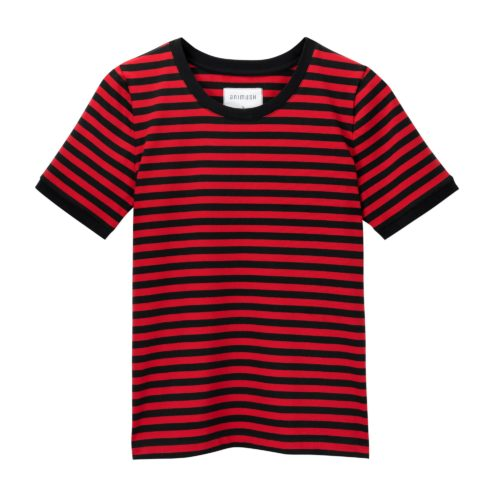 animush t-shirt ringer w czerwono-czarne paski