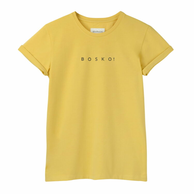 animush t-shirt oversize musztardowy bosko