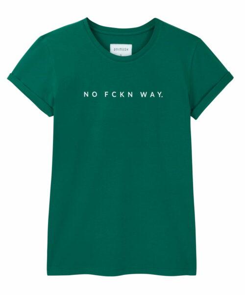 animush t-shirt oversize zielony no fckn way