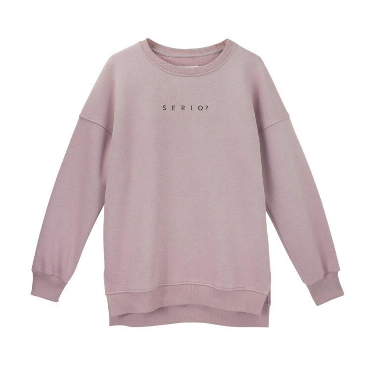 animush bluza oversize brudny róż serio