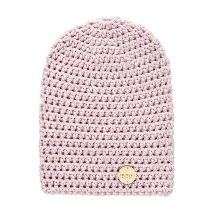 animush różowa czapka
