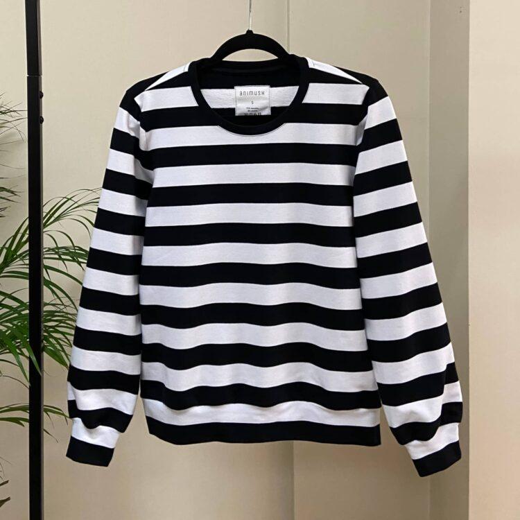 animush bluza w czarno-białe paski