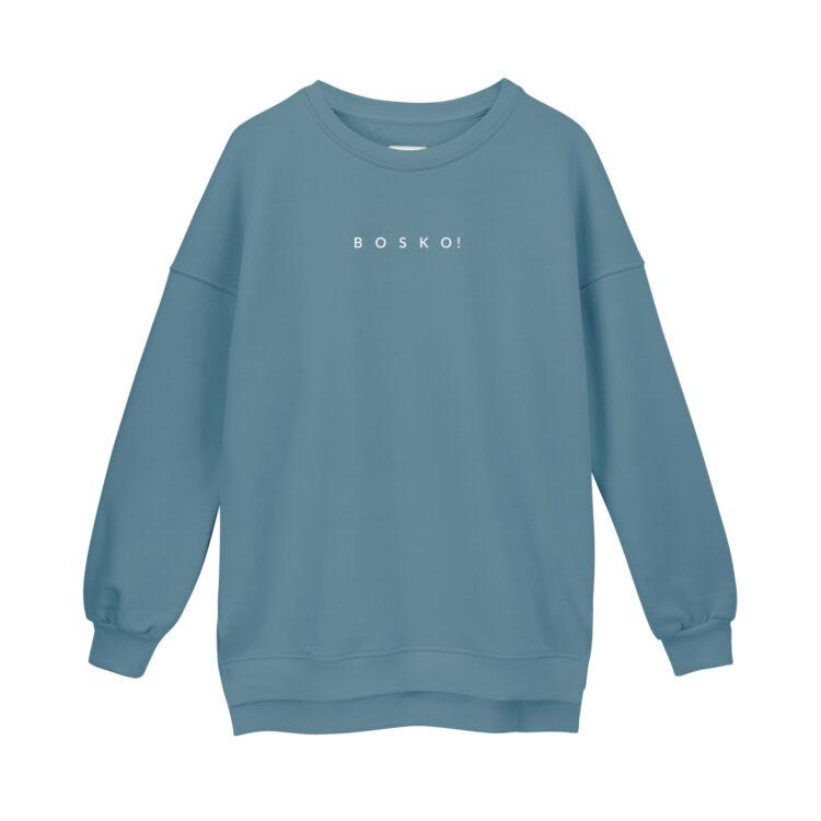 animush bluza oversize niebieska bosko