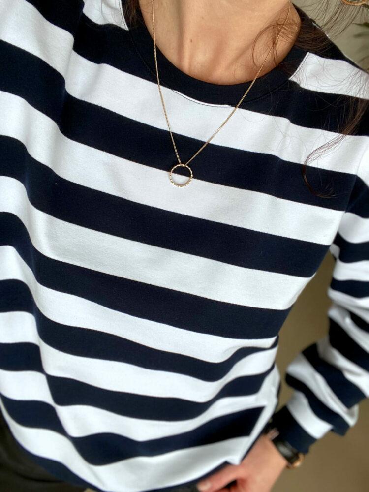 animush bluza w granatowo-białe paski