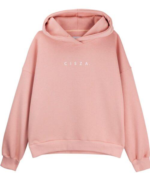 Bluza hoodie brzoskwiniowa cisza