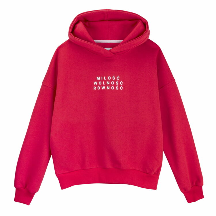 Bluza hoodie czerwona milosc