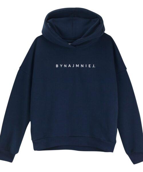 Bluza hoodie granatowa bynajmniej