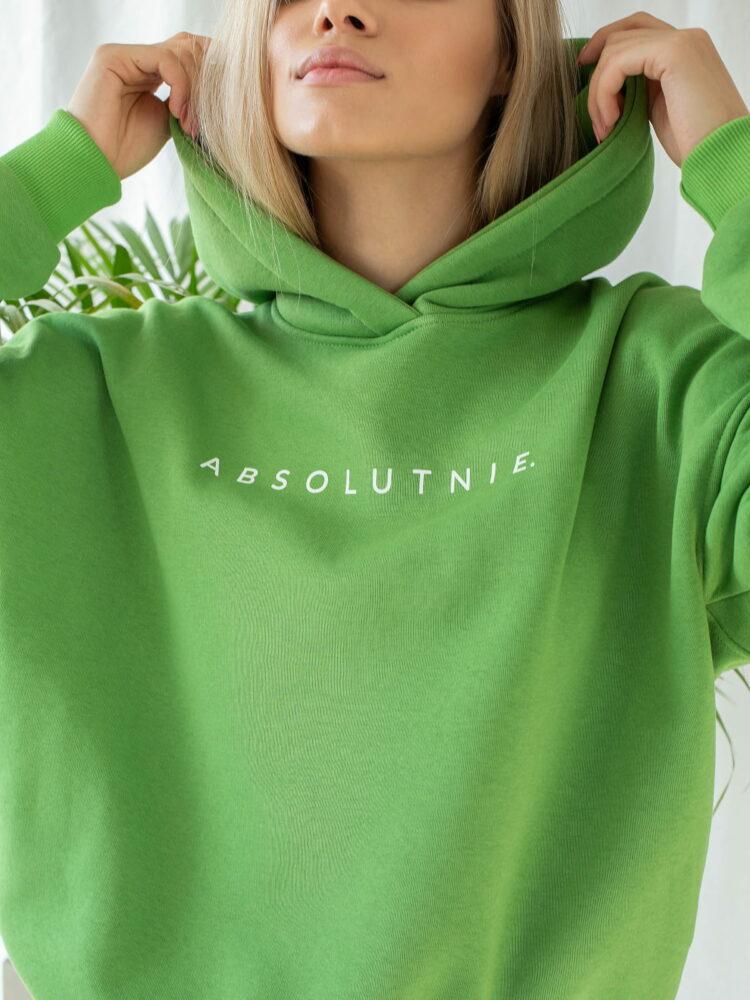 Bluza hoodie zielone jabluszko absolutnie