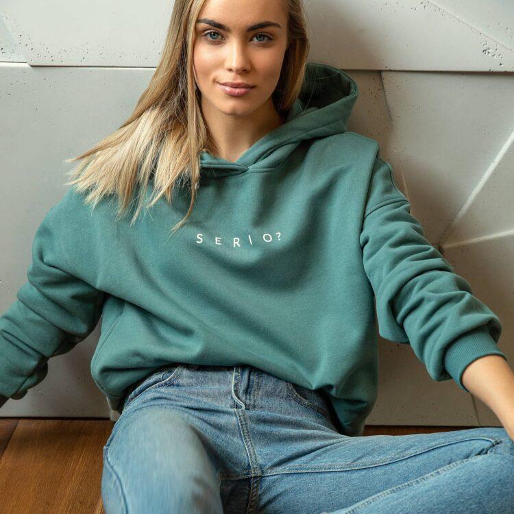animush bluza hoodie eukaliptusowa serio