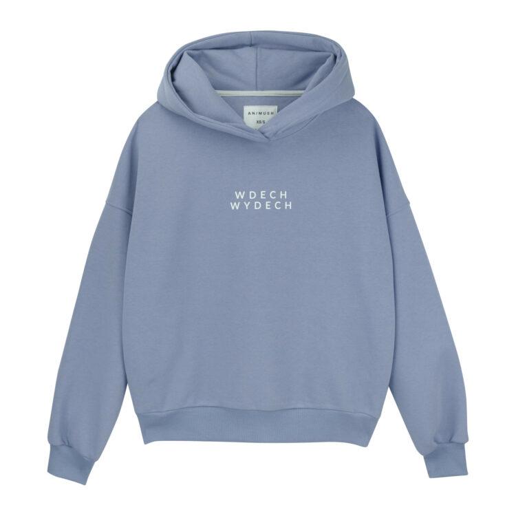 animush bluza hoodie barwinkowa wdech wydech