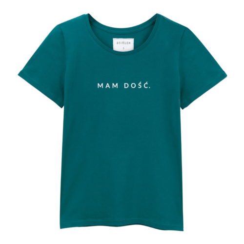 animush t-shirt szmaragdowy mam dość