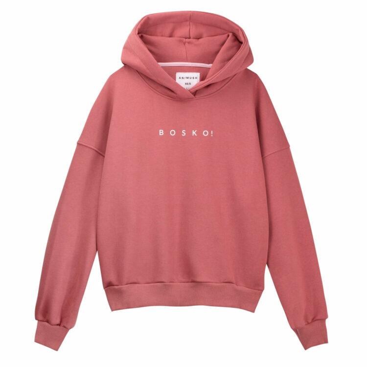Bluza hoodie herbaciana róża bosko