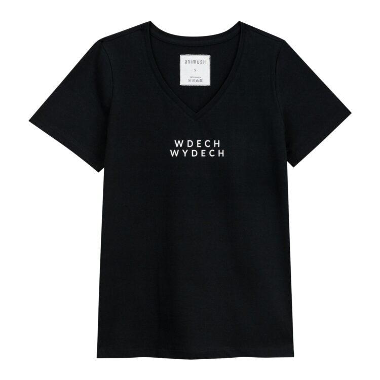 animush t-shirt czarny wdech wydech
